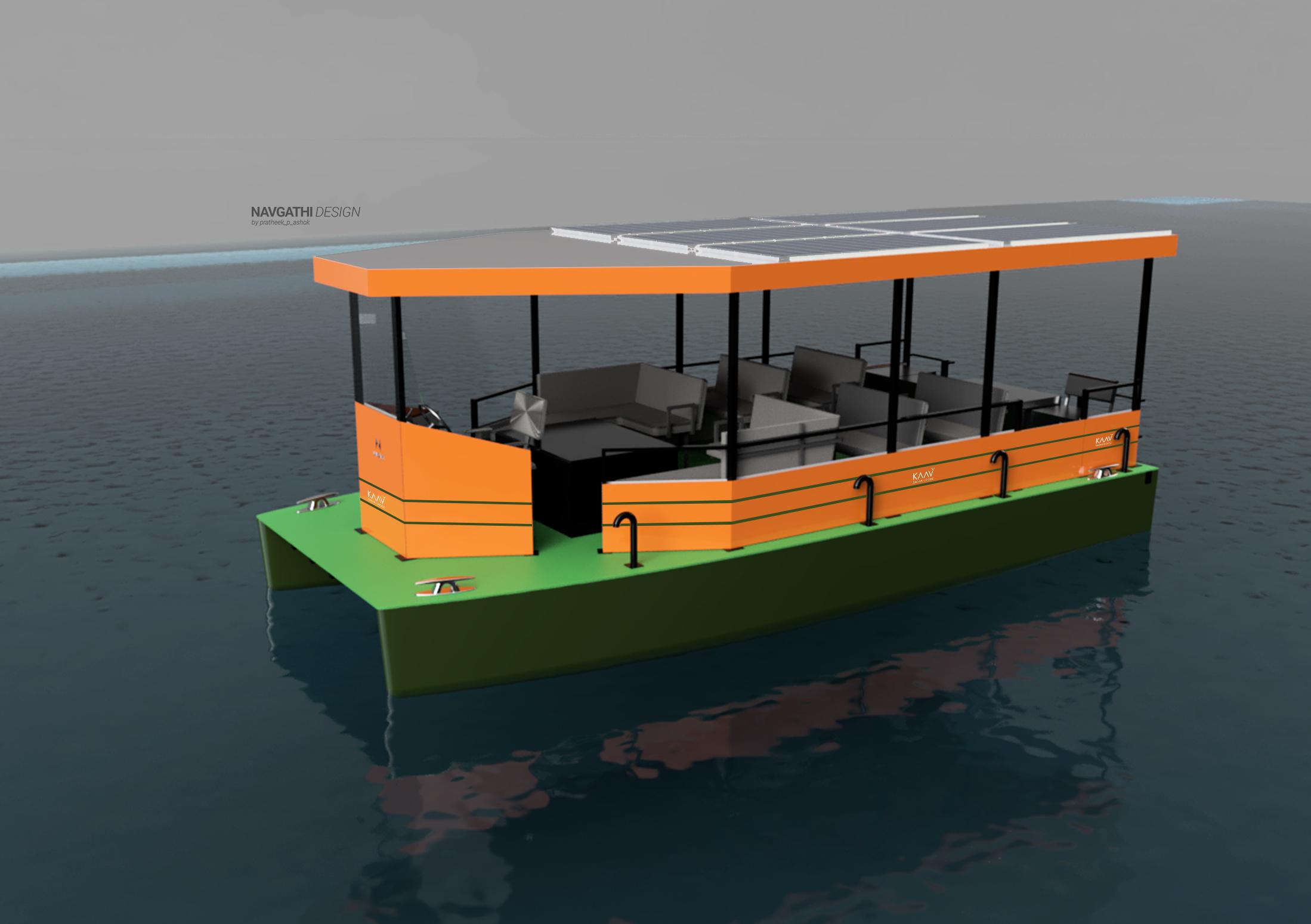 KAAV solar boat